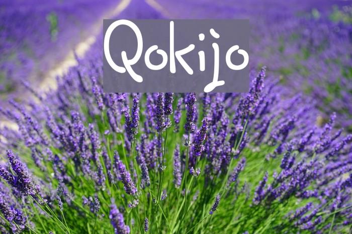 Qokijo Шрифта examples
