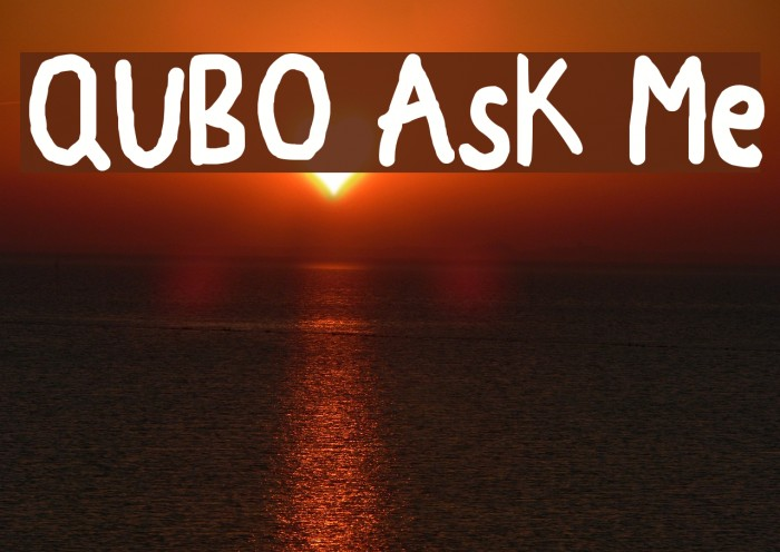 QUBO Ask Me Schriftart examples