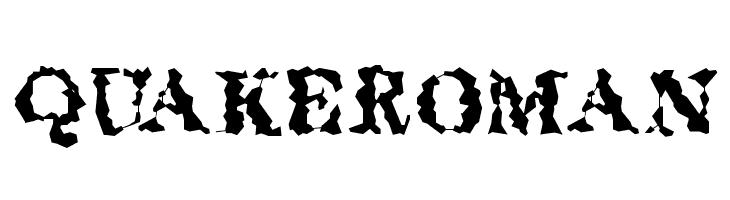 QuakeRoman  Free Fonts Download