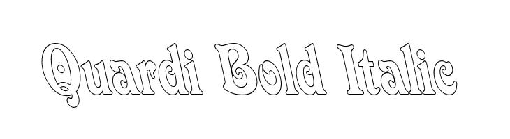Quardi Bold Italic  Free Fonts Download