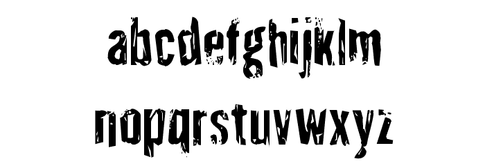 Quarrystone Condensed Font LOWERCASE