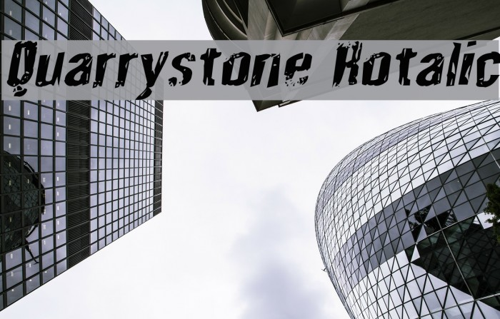 Quarrystone Rotalic Fonte examples
