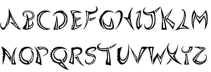 Quasari Font UPPERCASE