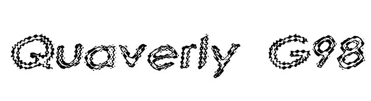 Quaverly G98  Скачать бесплатные шрифты