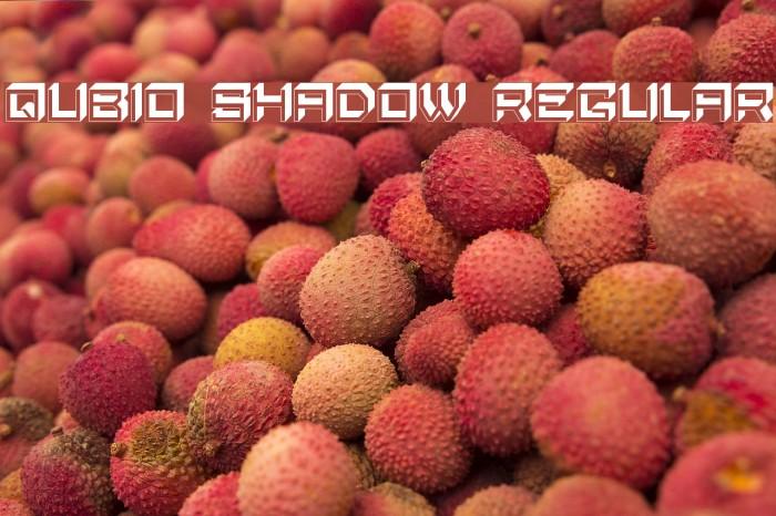 Qubio Shadow Regular Font examples
