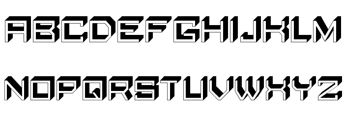 Qubio Shadow Regular Font LOWERCASE