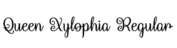 Queen Xylophia Regular  Скачать бесплатные шрифты