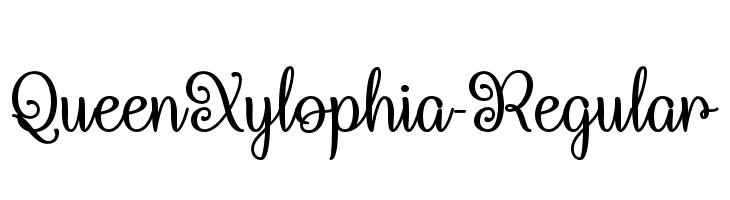 QueenXylophia-Regular Fuentes