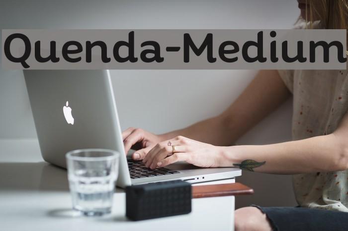 Quenda-Medium फ़ॉन्ट examples
