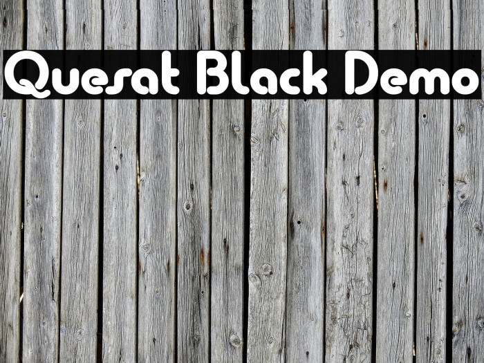 Quesat Black Demo Schriftart examples