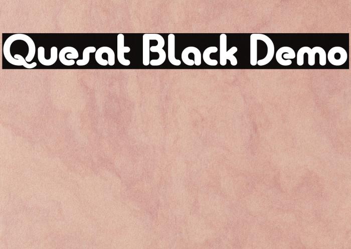 Quesat Black Demo Шрифта examples
