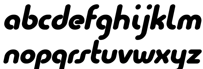 Quesat Black Italic Demo Font LOWERCASE