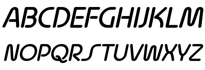 Quesat Demi Bold Demo Italic Schriftart Groß