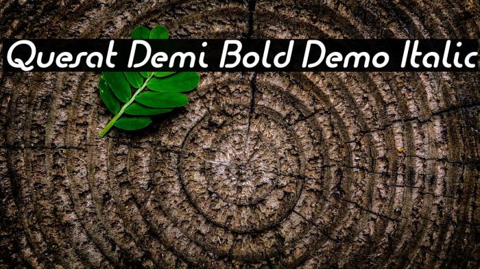 Quesat Demi Bold Demo Italic Schriftart examples