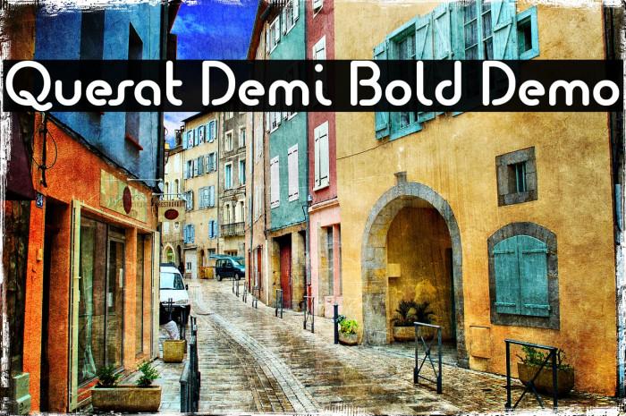 Quesat Demi Bold Demo Schriftart examples