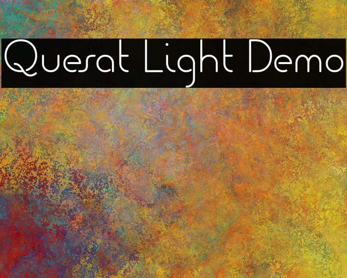 Quesat Light Demo Шрифта examples