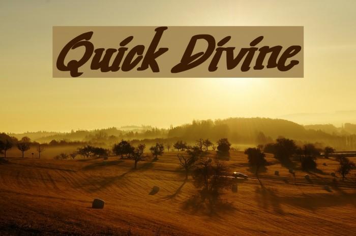 Quick Divine لخطوط تنزيل examples