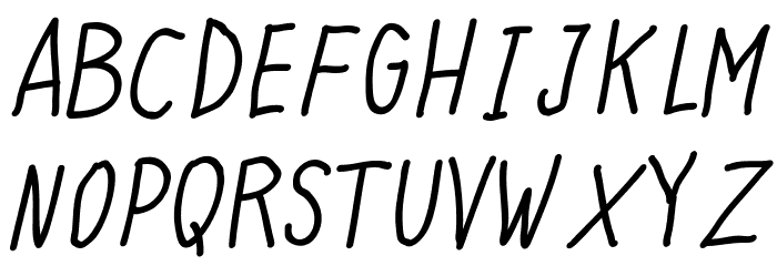 Quick Writing Italic Font UPPERCASE