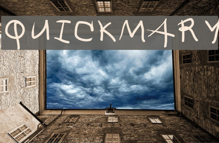 QuickMary Fonte examples