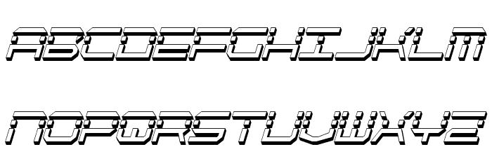 QuickQuick Shadow ItalCondensed Font UPPERCASE