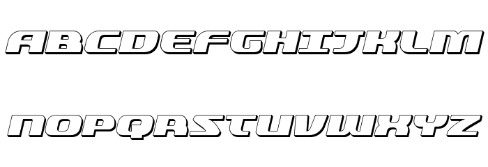 Quickening 3D Italic Font UPPERCASE