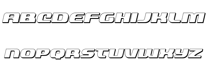 Quickening 3D Italic Font LOWERCASE