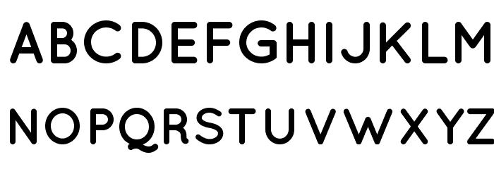 Quicksand Bold Regular Font UPPERCASE