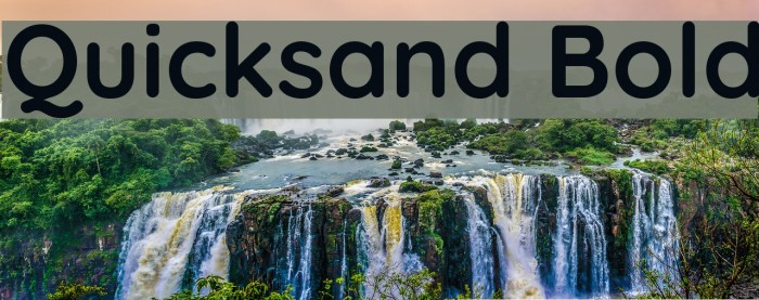 Quicksand Bold Font examples