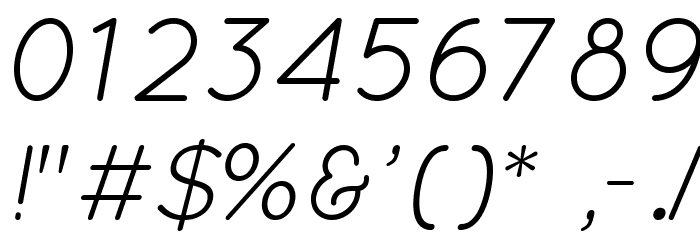 Quicksand Book Oblique Regular Font OTHER CHARS