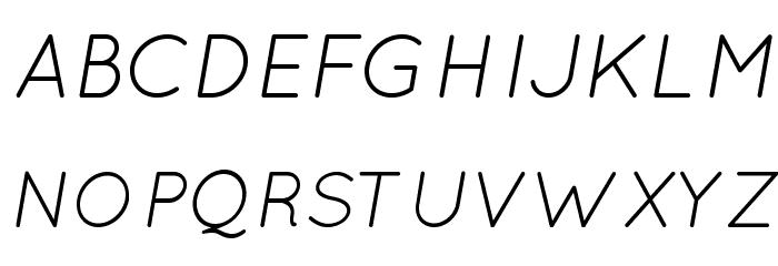 Quicksand Book Oblique Regular Font UPPERCASE