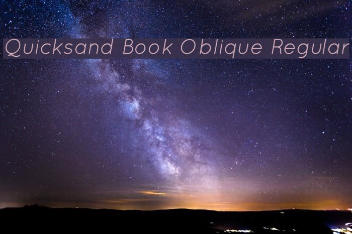 Quicksand Book Oblique Regular Font examples