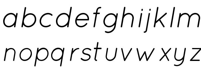 Quicksand Book Oblique Regular Font LOWERCASE