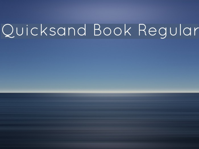 Quicksand Book Regular フォント examples
