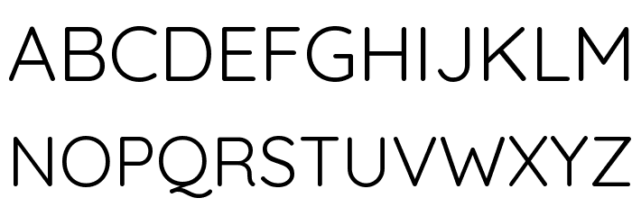Quicksand Regular Font UPPERCASE