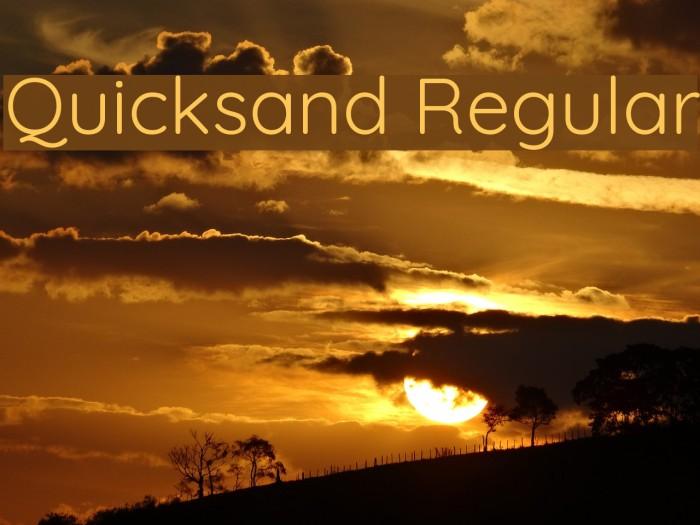 Quicksand Regular Font examples