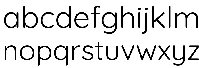 Quicksand Regular Font LOWERCASE