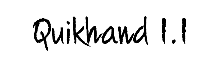 Quikhand 1.1  Free Fonts Download