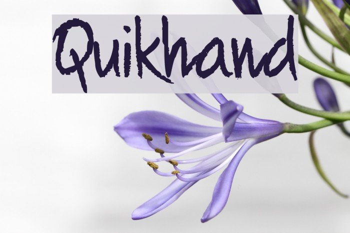 Quikhand Шрифта examples