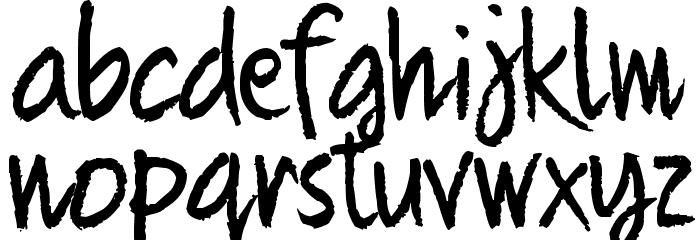 Quikhand Шрифта строчной