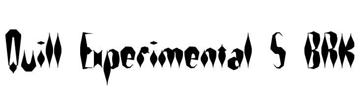 Quill Experimental S BRK  Descarca Fonturi Gratis