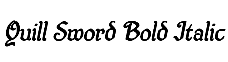 Quill Sword Bold Italic  Free Fonts Download