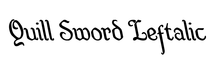 Quill Sword Leftalic  Free Fonts Download