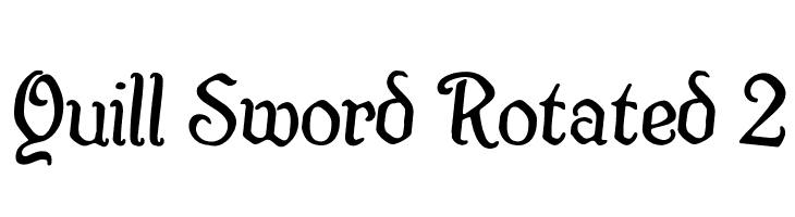 Quill Sword Rotated 2  Free Fonts Download