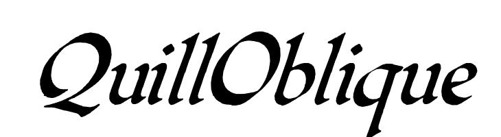 QuillOblique  Free Fonts Download