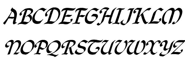 QuillOblique फ़ॉन्ट अपरकेस