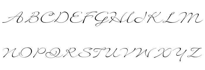 Quilline Script Thin Font UPPERCASE