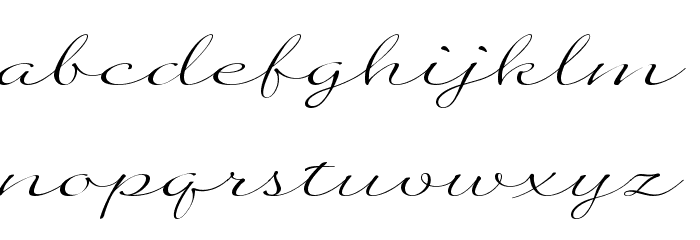 Quilline Script Thin Font LOWERCASE
