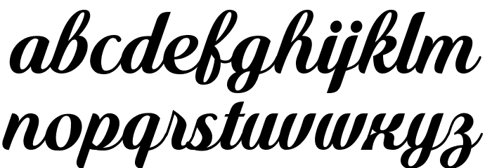 Quincho Script PERSONAL USE Font LOWERCASE