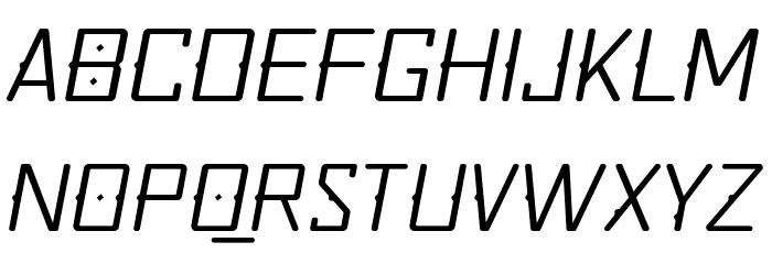Quirko-LightOblique Font UPPERCASE