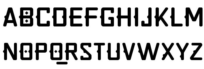 Quirko Schriftart Kleinbuchstaben